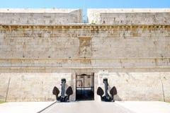 Είσοδος στο οχυρό Michelangelo - Civitavecchia, Ιταλία - 25 04 Στοκ Εικόνα