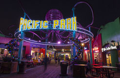 Είσοδος στο λούνα παρκ Santa Monica Pier. Στοκ Φωτογραφίες