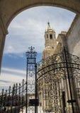 Είσοδος στο προαύλιο σε Arequipa, Περού Στοκ Εικόνα