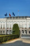 Είσοδος στο προεδρικό παλάτι στη Βαρσοβία, Πολωνία Στοκ Εικόνες
