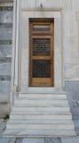 Είσοδος στο σπίτι με τη μαρμάρινη σκάλα Στοκ Εικόνες
