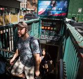 Είσοδος στο σταθμό μετρό NYC Στοκ φωτογραφίες με δικαίωμα ελεύθερης χρήσης