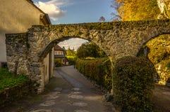 Είσοδος στο χωριό Arlesheim (Ελβετία) το φθινόπωρο Στοκ εικόνες με δικαίωμα ελεύθερης χρήσης