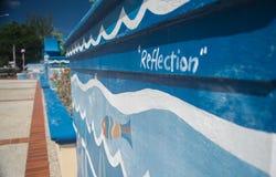 Είσοδος στο χωριό Bridgetown Μπαρμπάντος τεχνών πελεκάνων Στοκ φωτογραφία με δικαίωμα ελεύθερης χρήσης