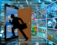 Είσοδος στο Διαδίκτυο Στοκ φωτογραφίες με δικαίωμα ελεύθερης χρήσης