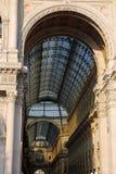 Είσοδος στο arcade που αφιερώνεται στο βασιλιά της Ιταλίας Vittorio Ε Στοκ εικόνα με δικαίωμα ελεύθερης χρήσης