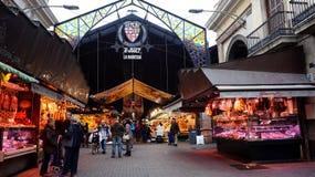 Είσοδος της αγοράς Λα Boqueria στοκ εικόνες με δικαίωμα ελεύθερης χρήσης