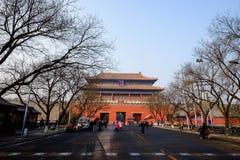 Είσοδος της απαγορευμένης πόλης Κίνα Στοκ Εικόνες