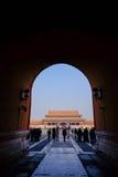 Είσοδος της απαγορευμένης πόλης Πεκίνο Κίνα Στοκ εικόνες με δικαίωμα ελεύθερης χρήσης