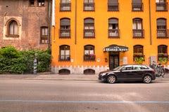 Είσοδος του ξενοδοχείου Ares Στοκ φωτογραφία με δικαίωμα ελεύθερης χρήσης