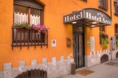 Είσοδος του ξενοδοχείου Ares Στοκ εικόνες με δικαίωμα ελεύθερης χρήσης