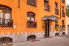 Είσοδος του ξενοδοχείου Ares Στοκ εικόνα με δικαίωμα ελεύθερης χρήσης