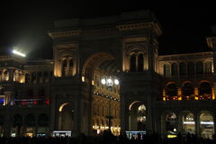 Είσοδος του Galleria Vittorio Emanuele ΙΙ στοκ φωτογραφία με δικαίωμα ελεύθερης χρήσης