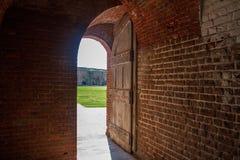 Είσοδος τούβλου Στοκ φωτογραφία με δικαίωμα ελεύθερης χρήσης