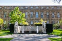 Είσοδος το ευρωπαϊκό Castle Γερμανία CI της Στουτγάρδης Oper Neues Schloss Στοκ Εικόνες