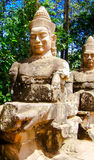 Είσοδος Ankor Wat αγαλμάτων Στοκ φωτογραφίες με δικαίωμα ελεύθερης χρήσης