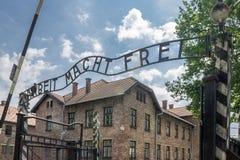 Είσοδος Auschwitz Στοκ φωτογραφίες με δικαίωμα ελεύθερης χρήσης