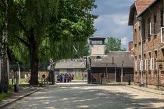 Είσοδος Auschwitz Στοκ Εικόνες