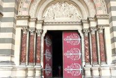 Είσοδος Cathédrale de Λα Major στη Μασσαλία, Γαλλία Στοκ φωτογραφία με δικαίωμα ελεύθερης χρήσης