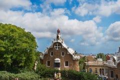 Είσοδος Guell πάρκων Στοκ εικόνα με δικαίωμα ελεύθερης χρήσης