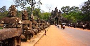 Είσοδος Wat Angkor Στοκ Φωτογραφία