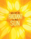 Είστε ακτινοβόλοι ως ήλιο Απεικόνιση αποθεμάτων