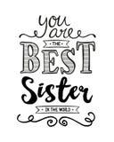 Είστε η καλύτερη αδελφή στον κόσμο Απεικόνιση αποθεμάτων