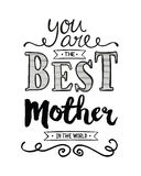 Είστε η καλύτερη μητέρα στον κόσμο Ελεύθερη απεικόνιση δικαιώματος
