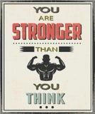 Είστε ισχυρότεροι από σκέφτεστε Στοκ φωτογραφία με δικαίωμα ελεύθερης χρήσης
