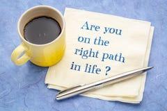 Είστε στη σωστή πορεία στη ζωή διανυσματική απεικόνιση