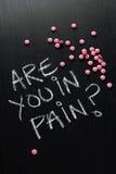 Είστε στον πόνο; Στοκ φωτογραφία με δικαίωμα ελεύθερης χρήσης