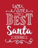 Είστε το καλύτερο Santa στον κόσμο Διανυσματική απεικόνιση
