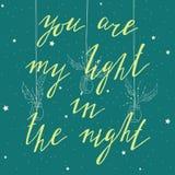 Είστε το φως μου στη νύχτα Στοκ φωτογραφίες με δικαίωμα ελεύθερης χρήσης