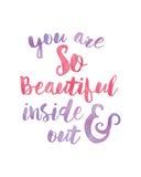 Είστε όμορφο εσωτερικό και έξω Ελεύθερη απεικόνιση δικαιώματος