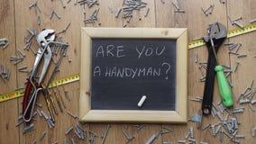 Είστε handyman; Στοκ φωτογραφία με δικαίωμα ελεύθερης χρήσης