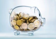 Δείτε μέσω της piggy τράπεζας Στοκ Φωτογραφία