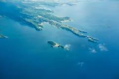 Είδος στη γη από ένα παράθυρο αεροπλάνων Στοκ φωτογραφίες με δικαίωμα ελεύθερης χρήσης