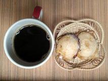 Είδος ταϊλανδικών sweetmeat και καφέ Στοκ Εικόνα