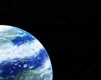 Είδος της γης από το διάστημα Στοκ Εικόνες