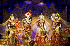 Είδωλα του Λόρδου Krishna και Radha στο ναό Chennai ISKCON στοκ εικόνες με δικαίωμα ελεύθερης χρήσης