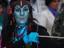Είδωλο καρναβάλι 2014 Lanzarote Στοκ Φωτογραφία