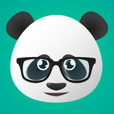 Είδωλο της Panda που φορά τα γυαλιά Στοκ εικόνες με δικαίωμα ελεύθερης χρήσης