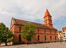 Εβαγγελική εκκλησία της ιερής τριάδας (1824) Πολωνία Τορούν στοκ φωτογραφίες με δικαίωμα ελεύθερης χρήσης