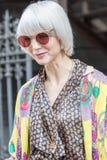 Εβδομάδα 2018 μόδας γυναικών του Μιλάνου στοκ εικόνα