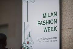 Εβδομάδα μόδας του Μιλάνου Στοκ φωτογραφία με δικαίωμα ελεύθερης χρήσης