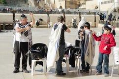 Εβραϊκή οικογένεια στην Ιερουσαλήμ Στοκ Εικόνες
