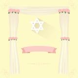 Εβραϊκή πρόσκληση γαμήλιων στοιχείων Στοκ Φωτογραφία