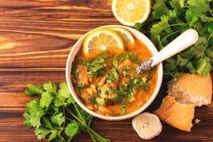 Εβραϊκός γάμος και holyday Yemenite σούπα Marak Temani βόειου κρέατος Στοκ Εικόνες