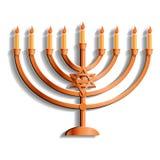 Εβραϊκό εικονίδιο στάσεων κεριών, ύφος κινούμενων σχεδίων ελεύθερη απεικόνιση δικαιώματος