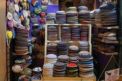 Εβραϊκό κατάστημα kippa στην Ιερουσαλήμ στοκ εικόνες